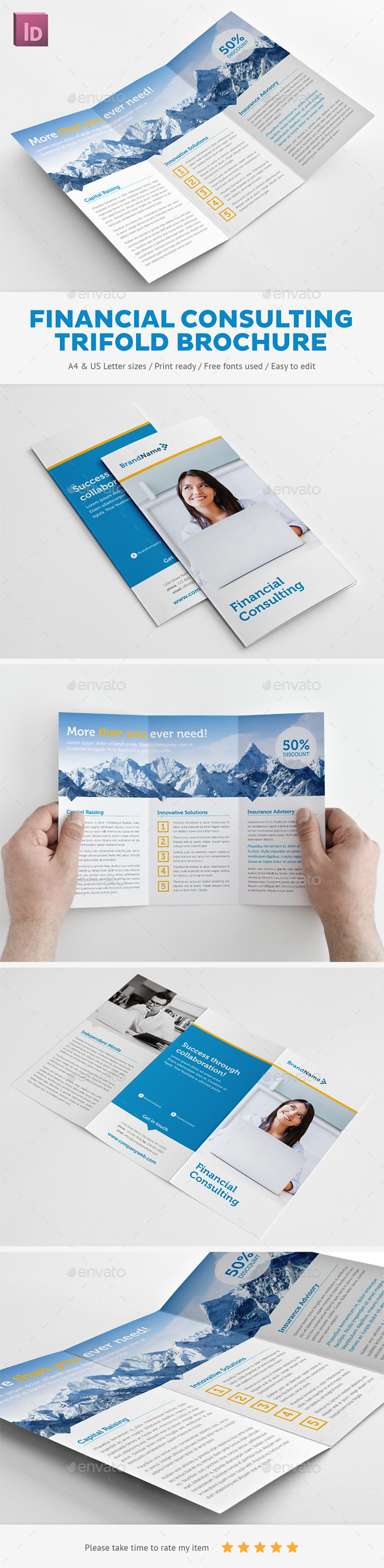 GraphicRiver Financial Consulting Trifold Brochure 10192932