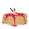 Pancakes with syrup and wild berries - PhotoDune Item for Sale