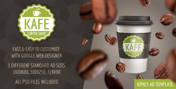 CodeCanyon Kafe HTML5 Coffee Shop Ad Template 10193059