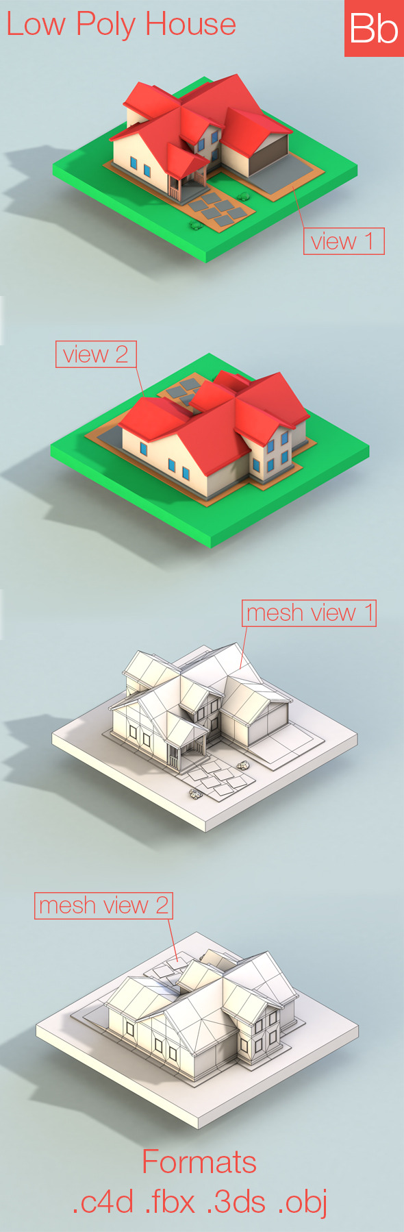 3DOcean Low poly house 10193086