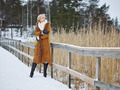 Fashionable woman and winter clothes - rural scene - PhotoDune Item for Sale