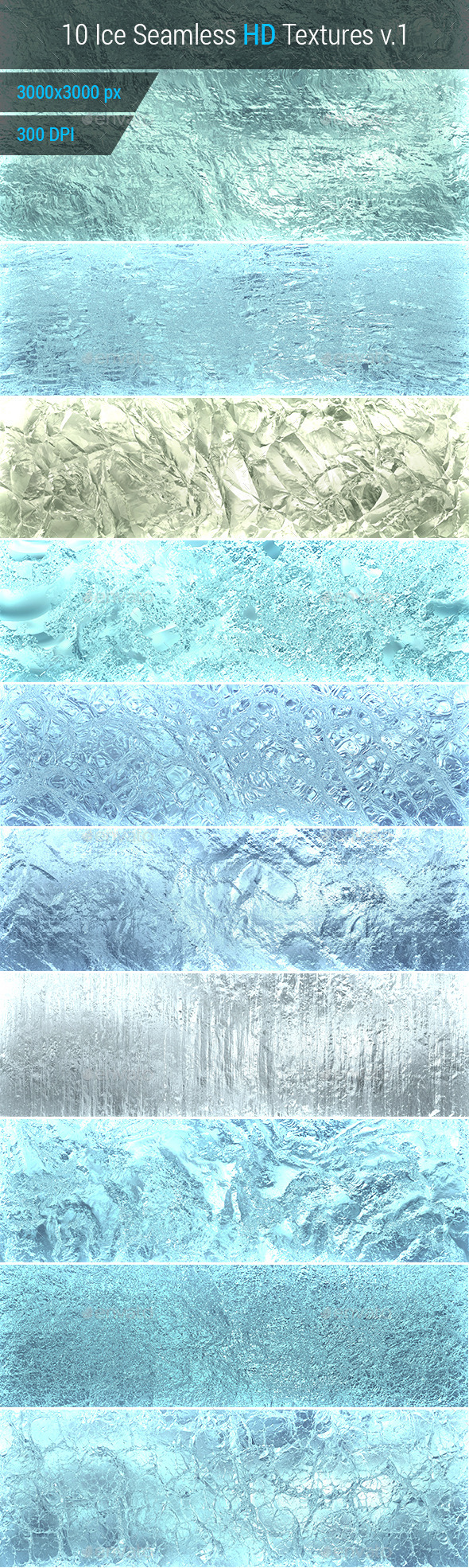 GraphicRiver Ice Seamless and Tileable Background Texture v.1 10193442