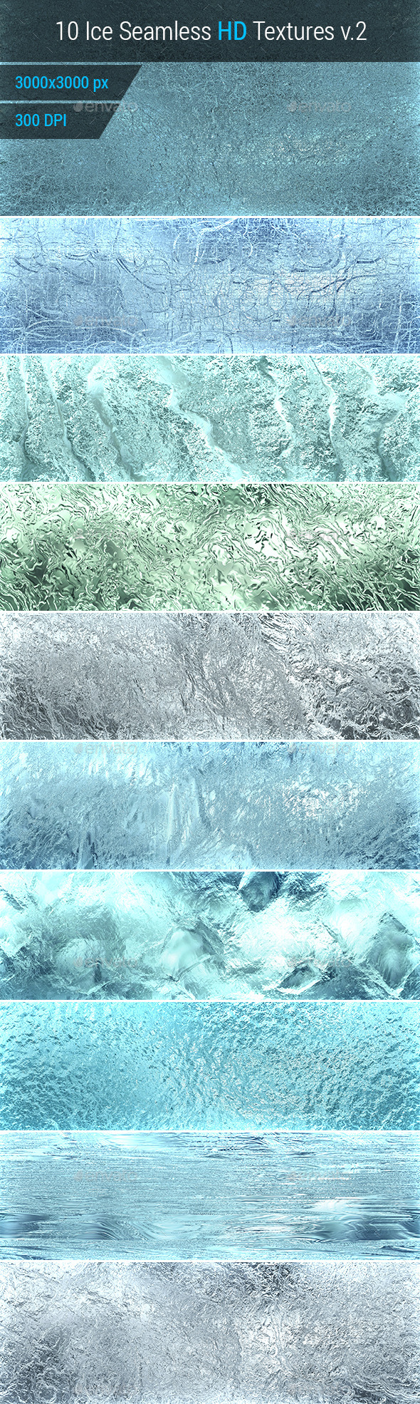 Ice Seamless and Tileable Background Texture v.2
