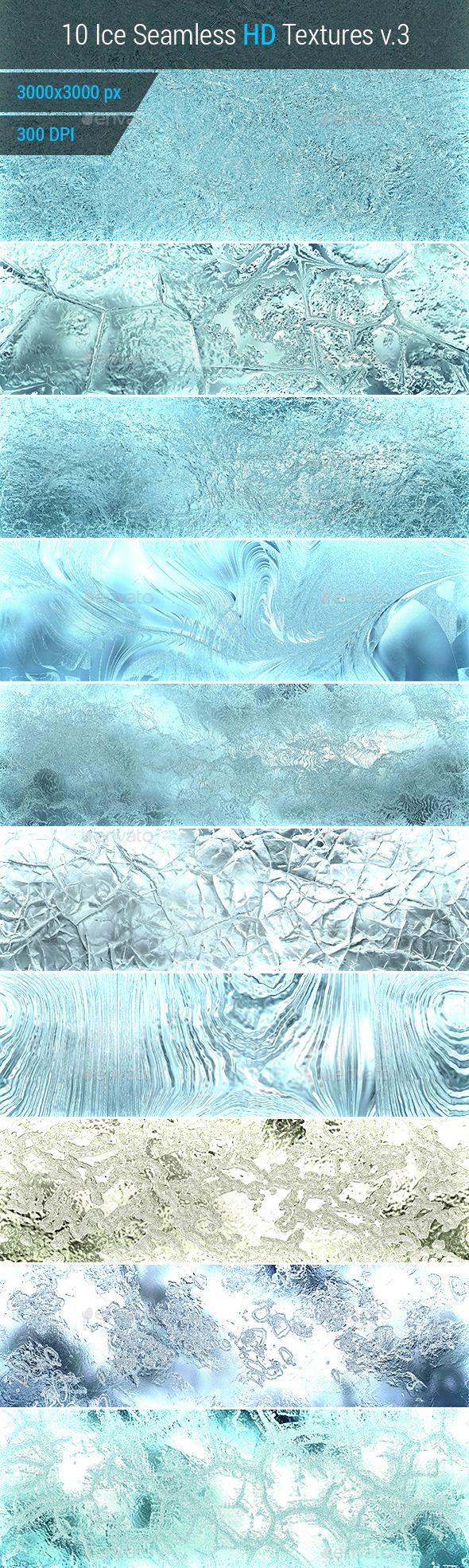 Ice Seamless and Tileable Background Texture v.3