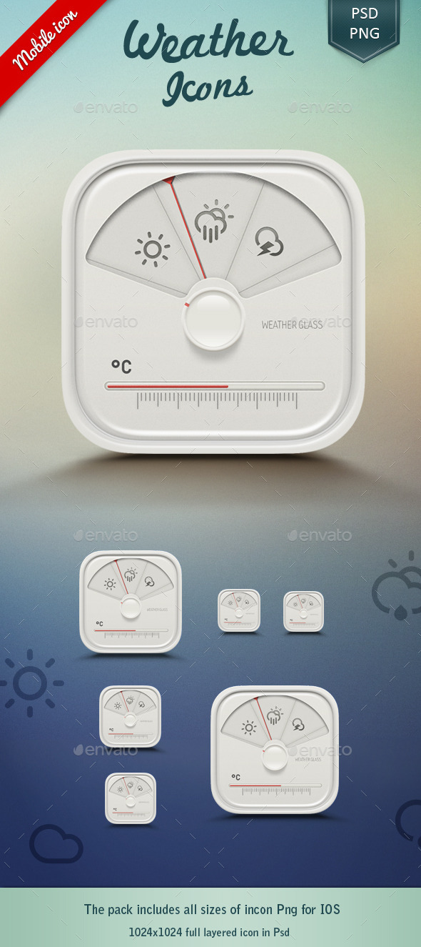 GraphicRiver Weather App Icon 10194082