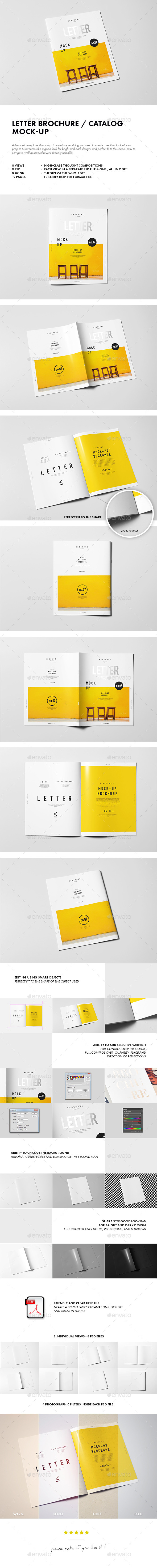 GraphicRiver Letter Brochure Catalog Booklet Mock-up 10194303