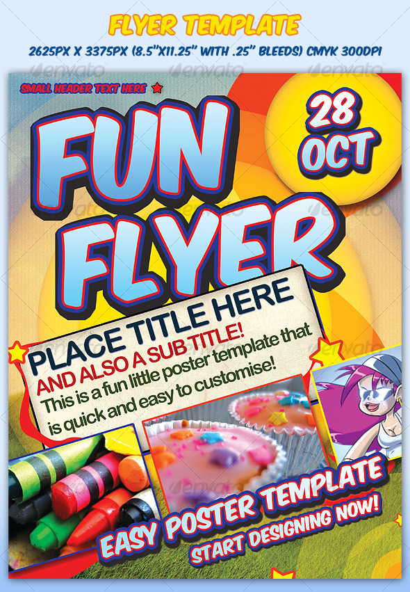 Fun Flyer Template - Clubs & Parties Events
