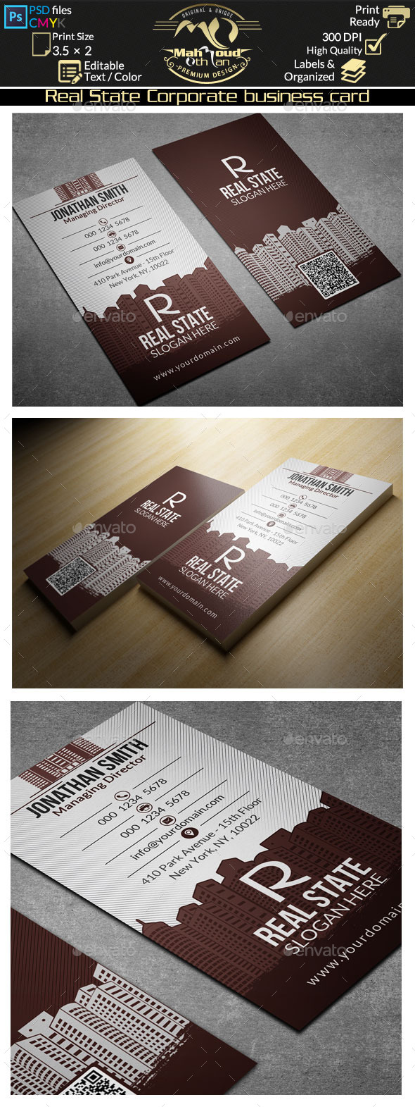 GraphicRiver Real Estate Corporate Business Card 10194668