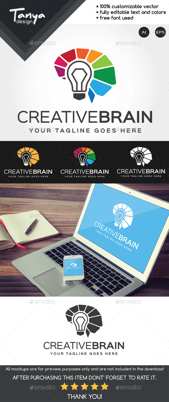 GraphicRiver Creative Brain Logo Template 10194997