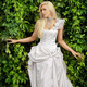 attractive blonde bride in luxury white clothes - PhotoDune Item for Sale