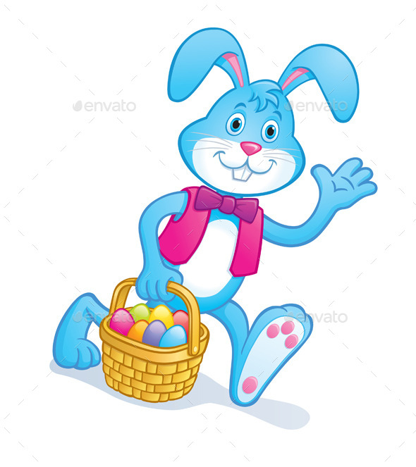 Easter Bunny Carrying Easter Basket