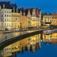 Quay Korenlei in Ghent town at evening, Belgium - PhotoDune Item for Sale
