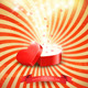 Valentines Day Background with an Open Red Box - GraphicRiver Item for Sale