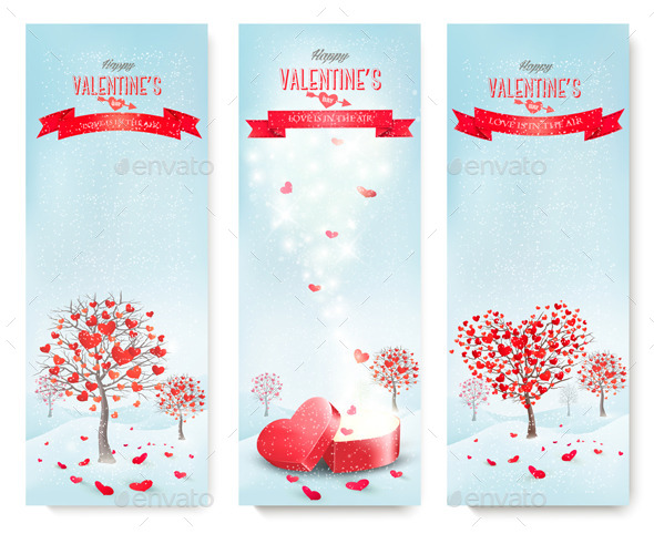 GraphicRiver Holiday Retro Banners for Valentine s Day 10195780