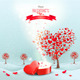 Valentines Day Landscape with Heart Shaped Trees - GraphicRiver Item for Sale