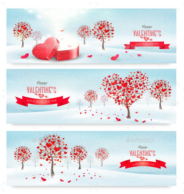 GraphicRiver Valentine Banners 10195796
