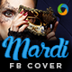 Mardi Gras Party Facebook Cover - GraphicRiver Item for Sale