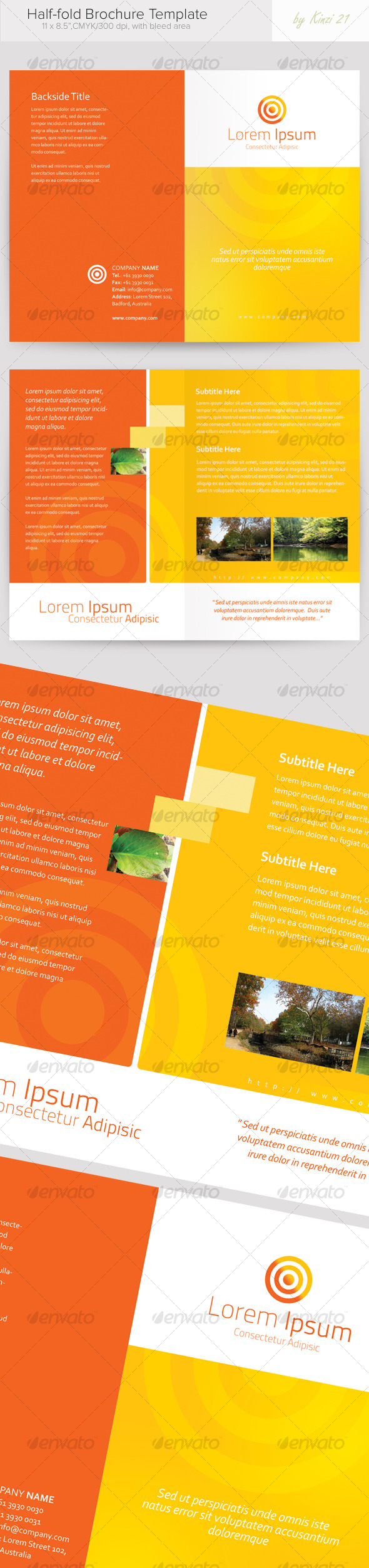 GraphicRiver Half-fold Brochure Template 119830