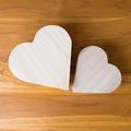 wood heart arrange shaped cloud on brown wooden background - PhotoDune Item for Sale