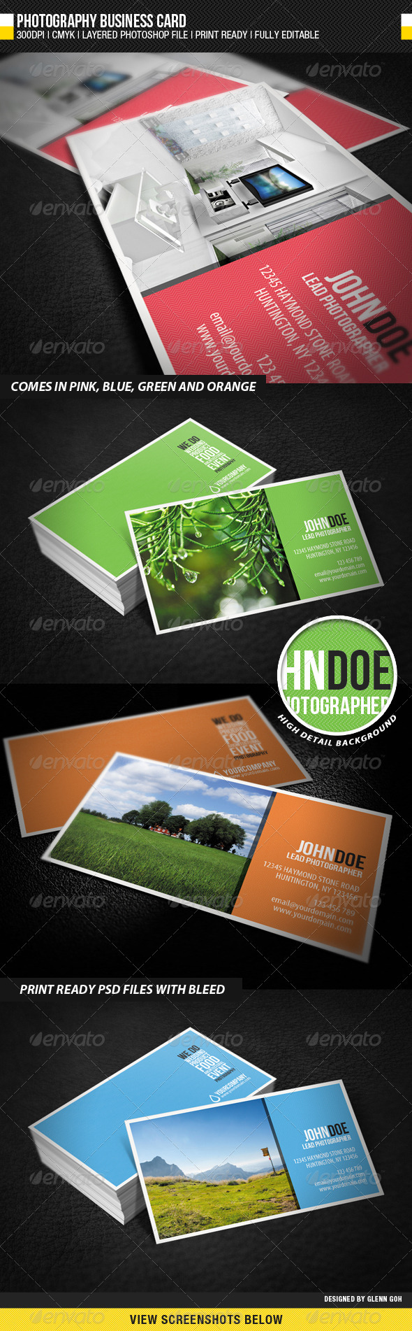 GraphicRiver Photography Business Card 1027622