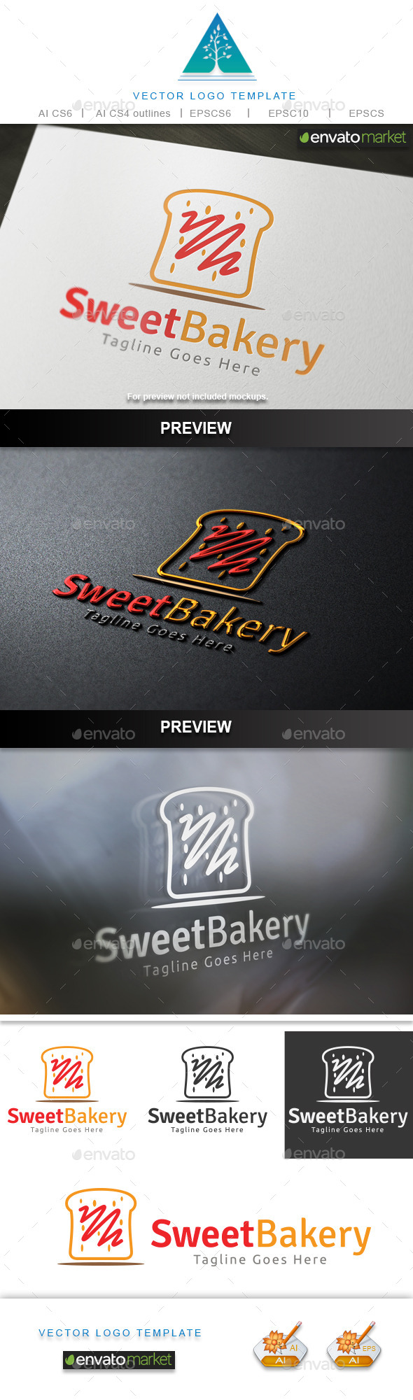 GraphicRiver Sweet Bakery Logo 10196502