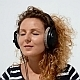 Woman in Headphones and Air Kiss - VideoHive Item for Sale