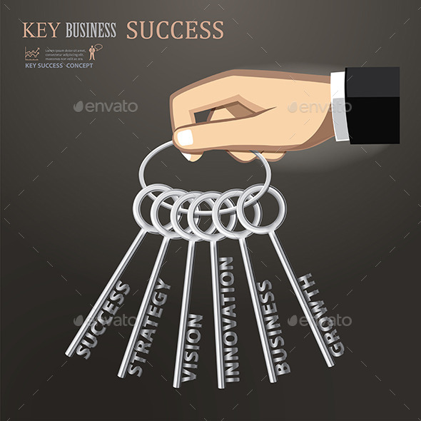 Hand Holding Keys for Business Success
