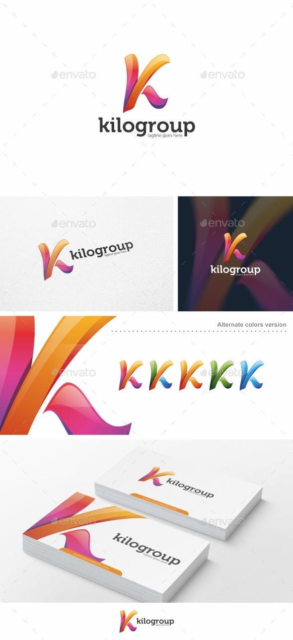 GraphicRiver Abstract K Letter Logo Template 10196673