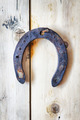 Old rusty horseshoe hanging on a nail. Easy HDR effect - PhotoDune Item for Sale