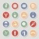 Round Beer Icons Set - GraphicRiver Item for Sale