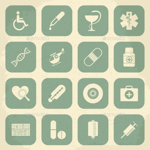 GraphicRiver Retro Medical Icons 10196945