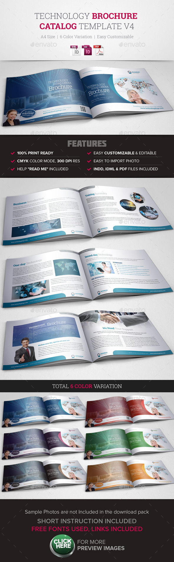 GraphicRiver Technology Brochure Catalog Template v4 10197197