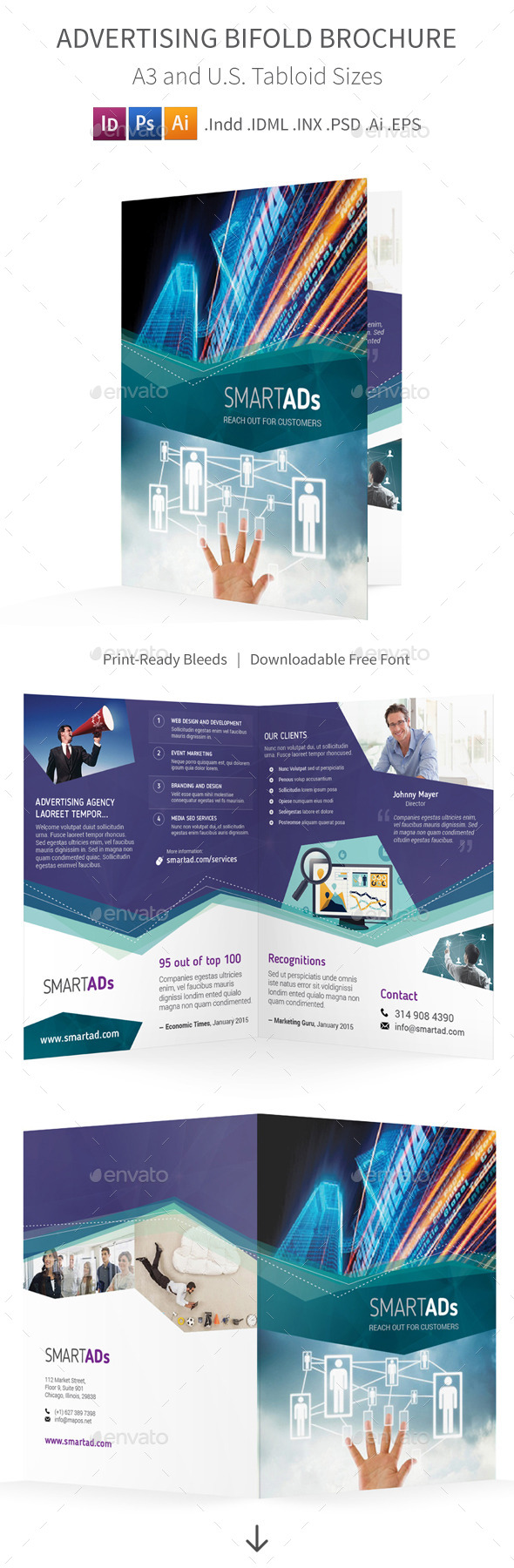 GraphicRiver Advertising Bifold Halffold Brochure 10197214
