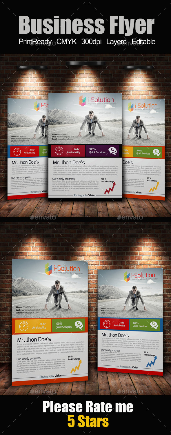 GraphicRiver A4 Business Flyer 10197270
