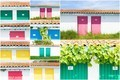 collage of colored fishermen's house - PhotoDune Item for Sale