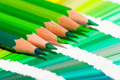 green colored pencils and color chart of all colors - PhotoDune Item for Sale