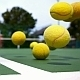 Tennis Balls Jumping on Court - VideoHive Item for Sale