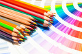 colored pencils and color chart of all colors - PhotoDune Item for Sale
