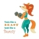 Fox Athlete with Dumbbell - GraphicRiver Item for Sale