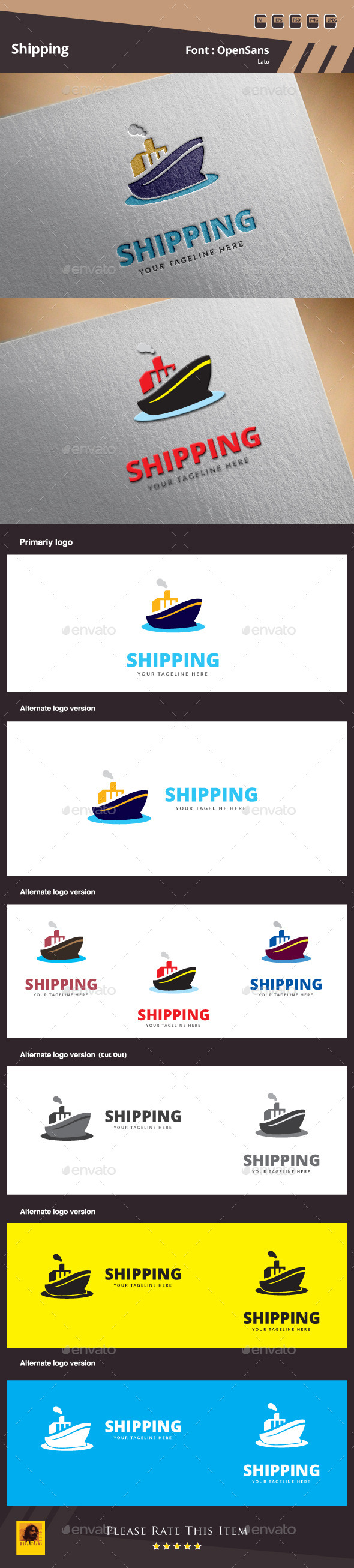 GraphicRiver Shipping Logo Template 10198070