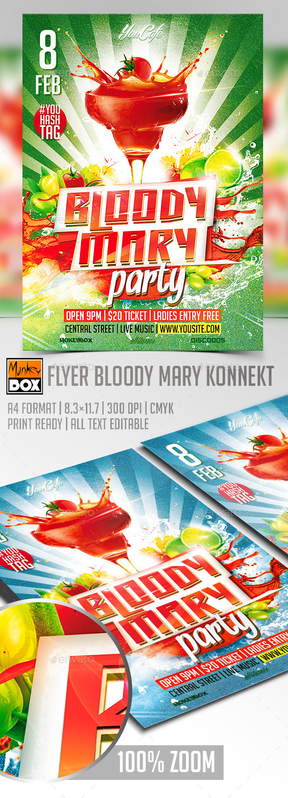 GraphicRiver Flyer Bloody Mary Konnekt 10198081