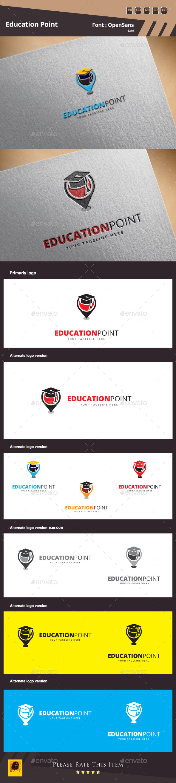 GraphicRiver Education Point Logo Template 10198218