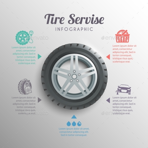 GraphicRiver Tire Service Infographics 10198265