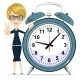 Business Woman with Alarm Clock - GraphicRiver Item for Sale