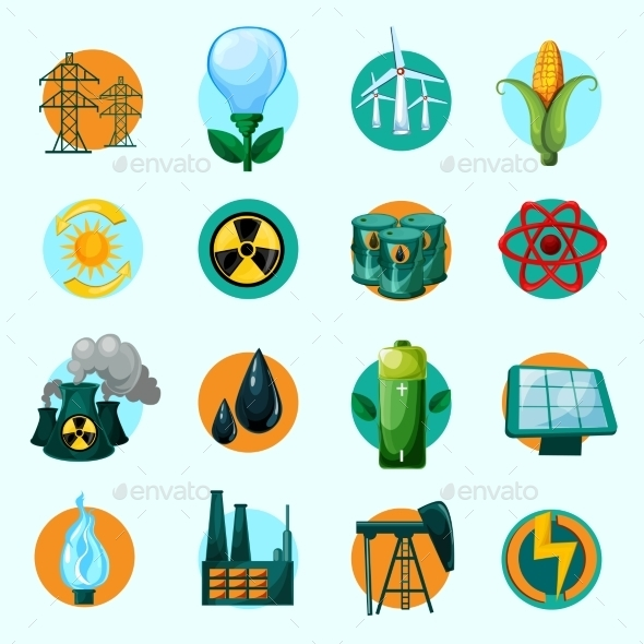 GraphicRiver Energy Icons Set 10198280