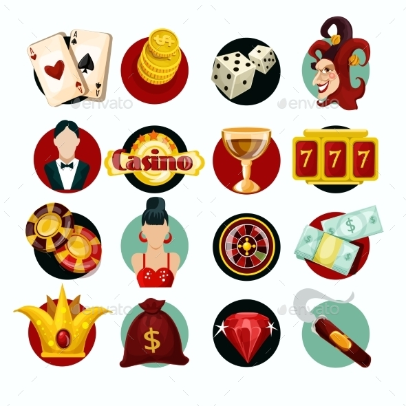 GraphicRiver Casino Icons Set 10198328