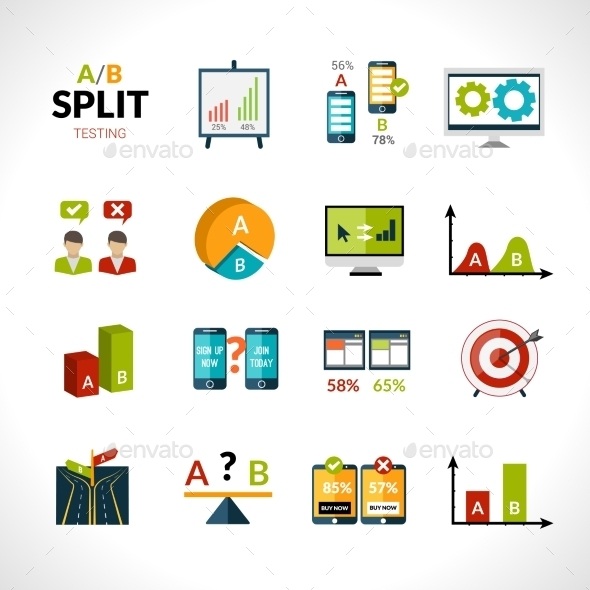 GraphicRiver A-b Testing Icons 10198448