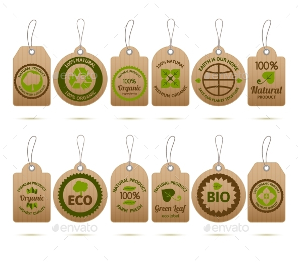 GraphicRiver Ecology Cardboard Tags 10198464