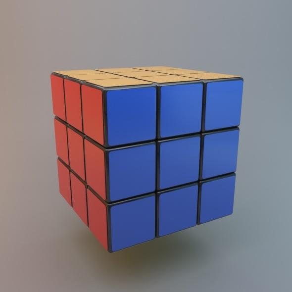 3DOcean Rubic Cube Standard & MentalRay Material 10198496