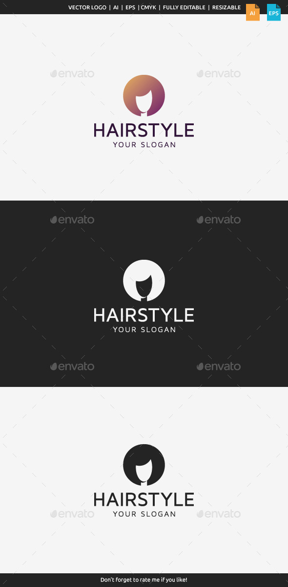 GraphicRiver Hairstyle Logo 10198502